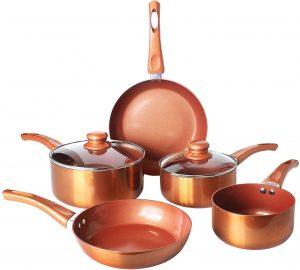 7 Pc non-stick Copper Pan Set-By Daniel James