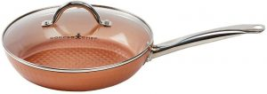 Copper Chef 10 Inch Diamond Fry Pan with lid